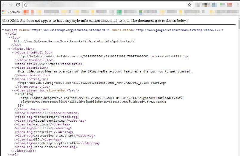 XML сайтмеп