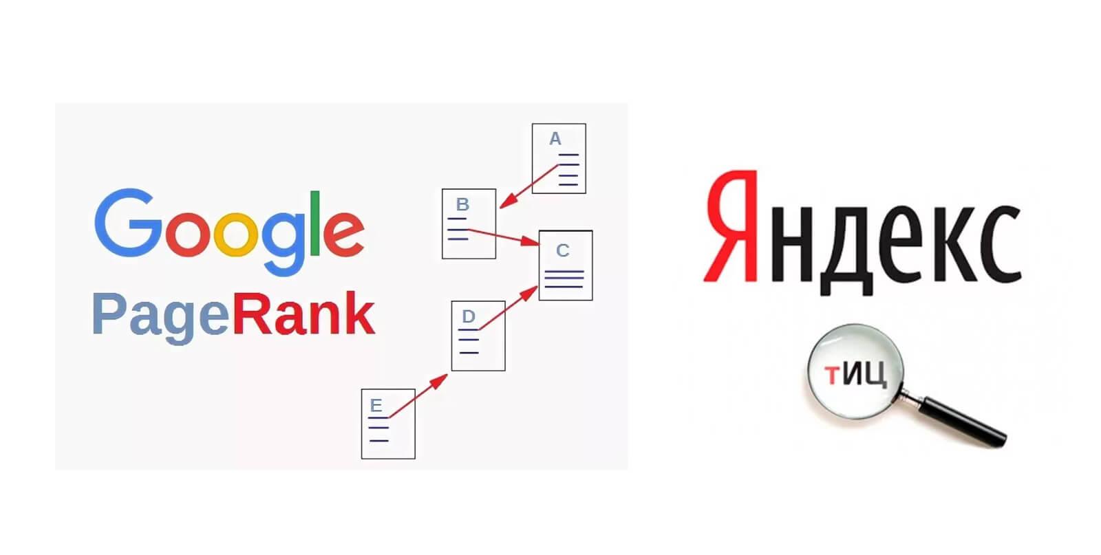 Google PageRank и Яндекс ТИЦ