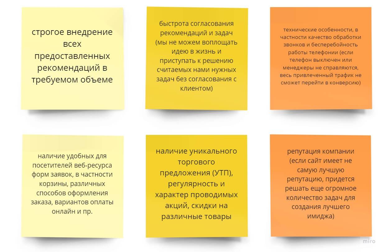 Факторы влияющие на SEO и зависящие от клиента